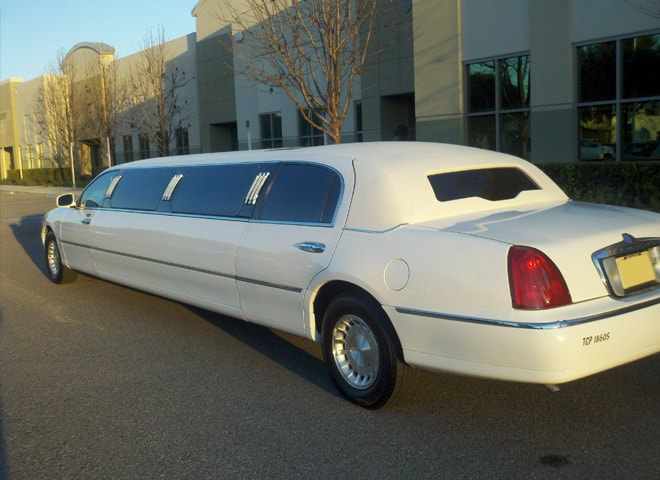 White Lincoln stretch limousines In redlands