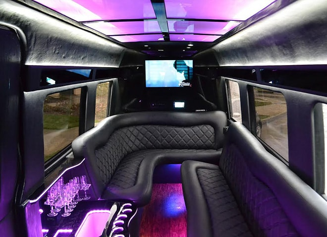 Inner view of Mercedes Sprinter